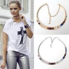 jewelry necklace choker collar images Metal choker collar necklace jpg