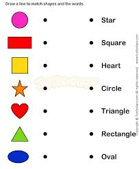 learn shape worksheets kindergarten math preescolar