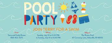 swim party invitations swim party invitations including adorable