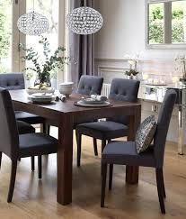 upholstered dining chairs esofastore modern dark blue dining