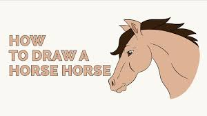 mustang horse drawing how to draw a horse head in a few easy steps drawing tutorial for