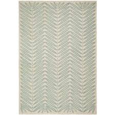 Safavieh Rug by Safavieh Martha Stewart Chevron Leaves Blue Fir 8 Ft X 10 Ft