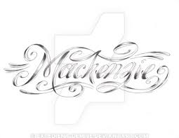 custom tattoo lettering script by expedient demise on deviantart