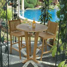 Outdoor Bar Table Set Boston Teak Patio Bar Table Set