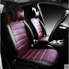 housse de siege auto cuir personnaliser en cuir auto coussin ensemble housses de siège de