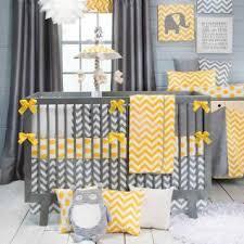 swizzle yellow chevron patterned baby crib bedding 13840