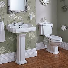 traditional bathroom basin sink and toilet wc set including