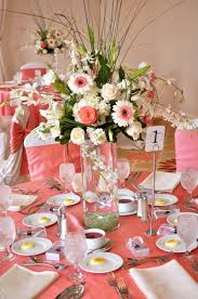 wedding decoration ideas coral wedding decor ideas with flowers