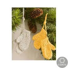crochet mitten ornaments knitted and crocheted