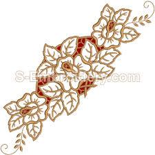 design embroidery cutwork machine embroidery 10553 rose cutwork lace embroidery design