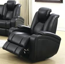 power recliner leather sofa set barcaccia brown leather power