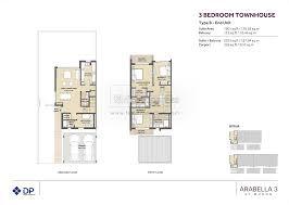 floor plans arabella townhouses dubai land by dubai properties