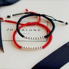 simple rope bracelet images Simple sterling silver divine 39 9 39 bead red rope bracelet zenheavens jpg