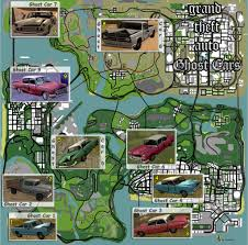 San Andreas Map Gta Sa Grand Theft Auto San Andreas Mysteries Ghost Cars