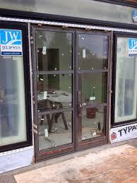 metal door with glass heavy metal works custom steel door systems