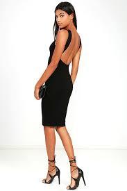like a lady black backless midi dress midi dresses fancy and