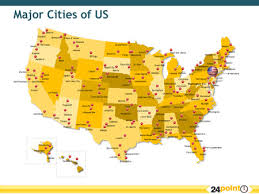 map of america showing states and cities major cities in the usa enchantedlearningcom printable map of usa