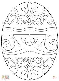 Pysanky Egg Coloring Page | coloring ukrainian easter eggs keyid free printable coloring page