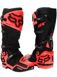motocross boot fox black orange 2017 instinct mx boot fox freestylextreme