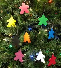 meeplesource set of 10 meeple tree ornaments