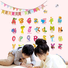 aliexpress com buy 2017 animal characters letters wall sticker aliexpress com buy 2017 animal characters letters wall sticker flag nursery kids room birthday decoration english wall decals alphabet logo gift from