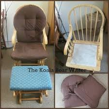 rocking chair cover re upholster glide rocking chair and stool a diy project