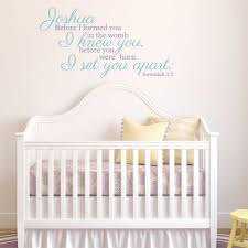 Custom Nursery Wall Decals Jeremiah 1 5 Before I Formed You Personalized Nursery Wall