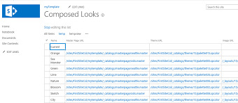 sharepoint 2013 save as a template notebook bug and composed look
