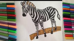 zebra coloring pages for kids zebra coloring pages cartoon hd