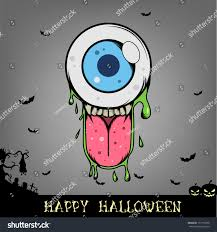 halloween eye ball monster head stock vector 157715396 shutterstock