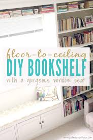 built in bookshelves with a window seat how to build a diy floor