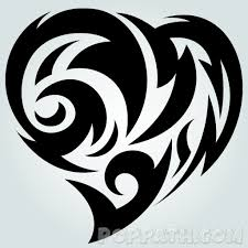 how to draw a heart tribal tattoo u2013 pop path