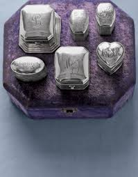 Monogrammed Silver Ring Antique Silver Ring Boxes