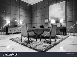 Luxury Reception Desk Reception Desk Luxury Lobby Interiorwith Crystal Stock Photo