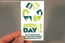 Recycle Paper Business Cards Seed Paper Promotions For America Recycles Day Blog Botanical