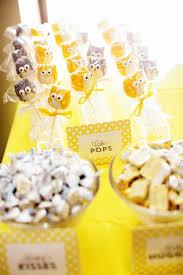 kara u0027s party ideas owl yellow grey gray twin baby shower party