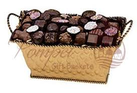 chocolate baskets golden confectionery chocolate gift basket by pompei baskets