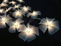 Flower Light Bulbs - handmade white flower string lights for patio wedding party and