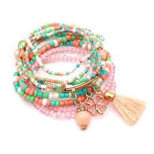beads friendship bracelet images 9pcs set brand multilayer seed beads tassel clover bracelets jpg