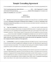 consulting contract template free download templates resume