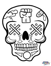 sugar skulls u2013 coloring pages u2013 original coloring pages