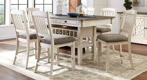 counter height dining room table bolanburg counter height dining set jennifer furniture