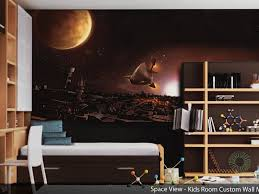 Fabric Wall Murals by Wall Amazing Kids Bedroom Ideas With Blue Fabric Bedding Set