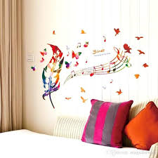 music note home decor music note home decor colorful feather musical butterfly birds wall