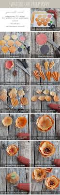 watercolor paper flower tutorial diy paper poppy watercolor paper watercolor and tutorials