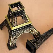 13cm bronze paris eiffel tower metal crafts figurine statue model