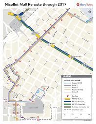 Metro Transit Map by Nicollet Mall Metro Transit
