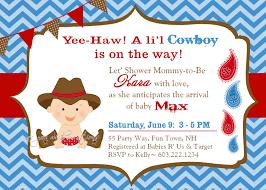 baby shower invitations astounding cowboy baby shower invitations