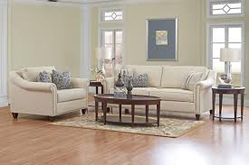 Klaussner Coffee Table by Klaussner Langley Sofa With Nailhead Trim And Toss Pillows