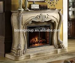 Rustic Electric Fireplace Bisini European Style Decorative Fake Flame Electric Fireplace